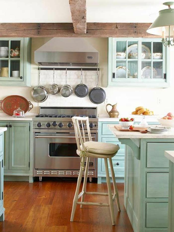 80 id es pour habillez votre maison en aigue marine for Cuisine amenagee bleue