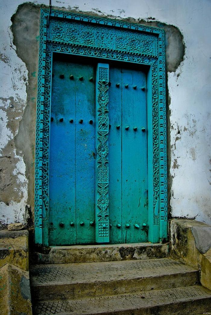 Porte-d-entrer-aigue-marine-couleur-ombré
