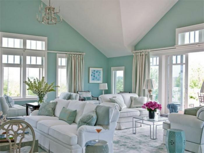 Salle-de-séjour-à-la-couleur-aigue-marine-salon-classique