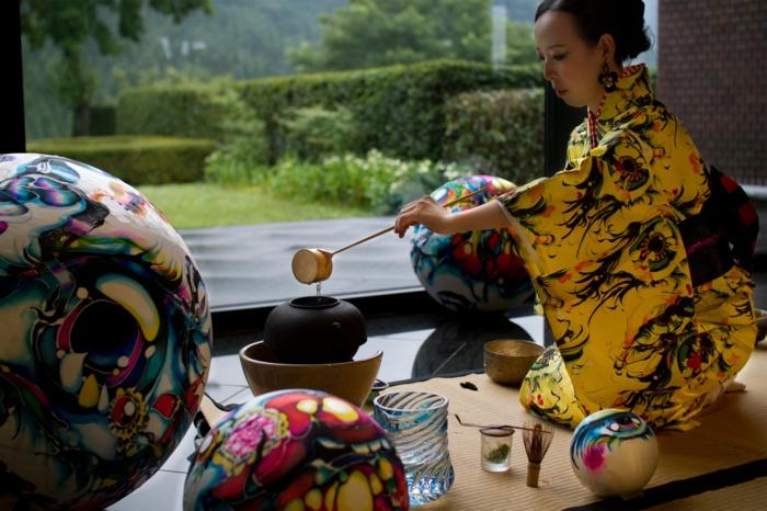 Théière-bouilloire-décoration-cérémonie-japonais