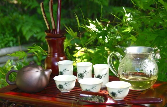 Théière-bouilloire-décoration-jardine-japon