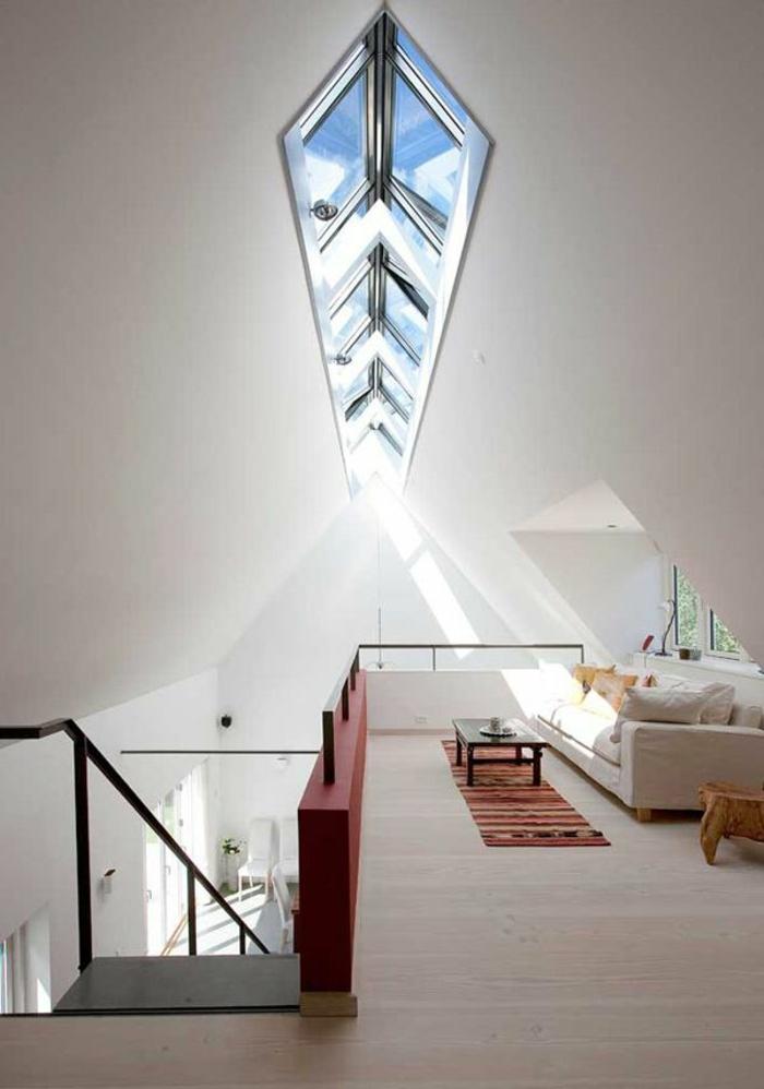 Une-maison-fenêtre-de-toit-en-angle
