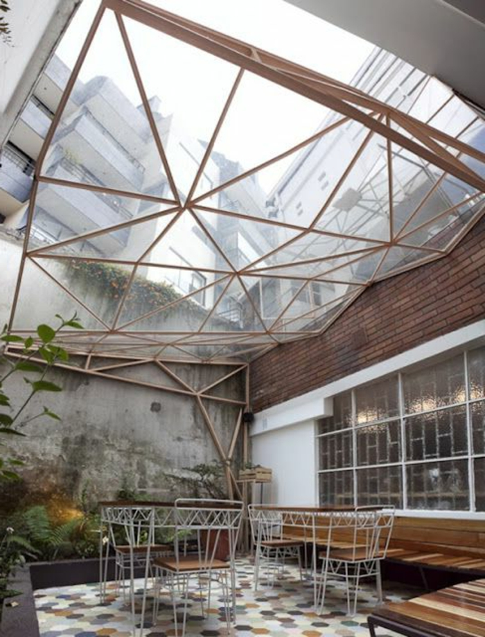 Toit en verre maison finest download coupole de rtro toit for Maison avec toit en verre