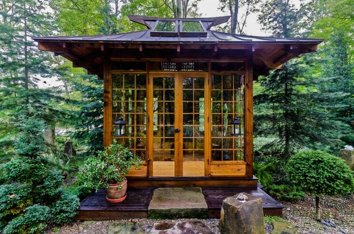 Le chalet de jardin qui va vous charmer for Chalet abris de jardin bois