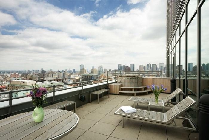 La terrasse en ville qui inspire la plupart des designers - Amenager une terrasse en ville ...