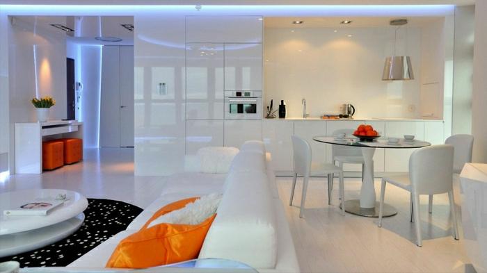appartement-intérieur-moderne-atypique-style-élégant-blanc-tables-chaises-blanc-tapis-noir