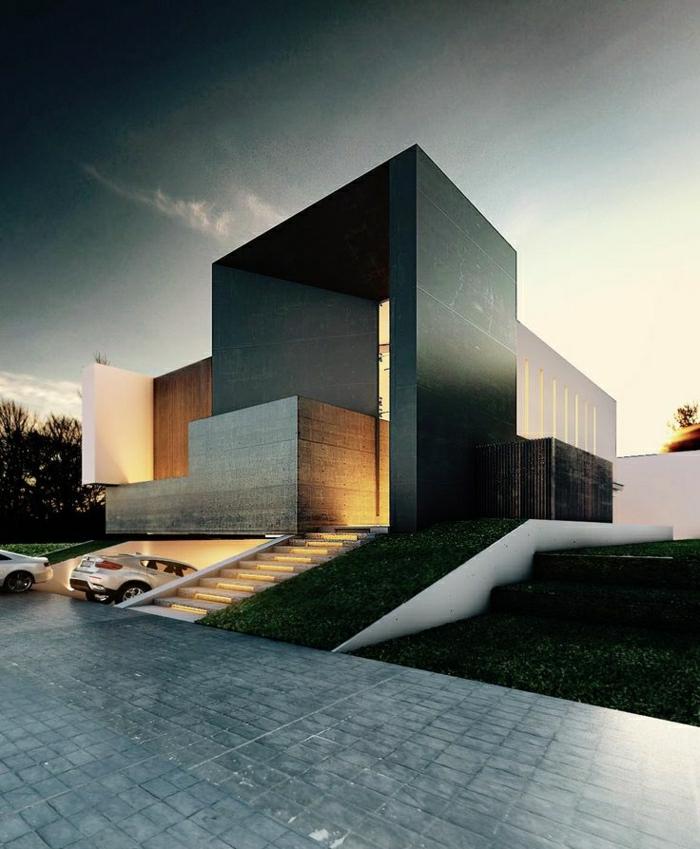 batiments-atypiques-architecture-contemporain-extérieur-moderne-appartement-maison-de-luxe