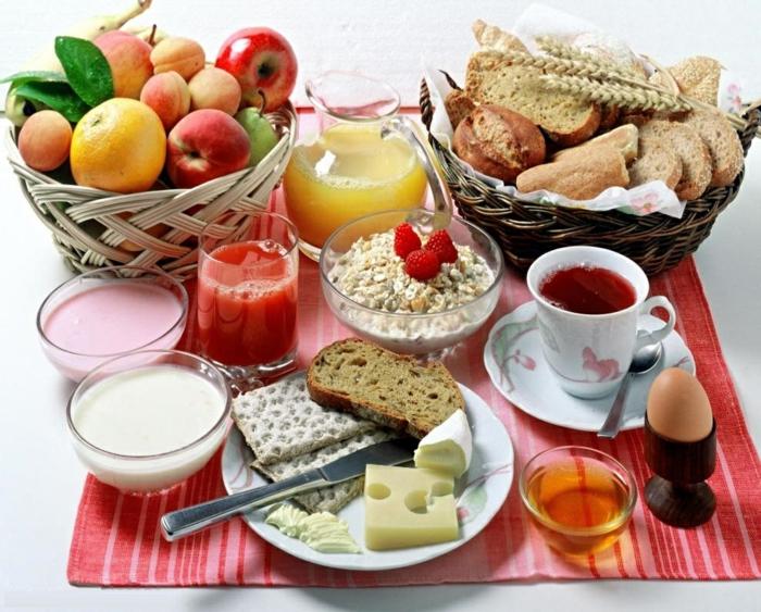 bon-petit-déjeuner-régime-lait-fromage-muesli