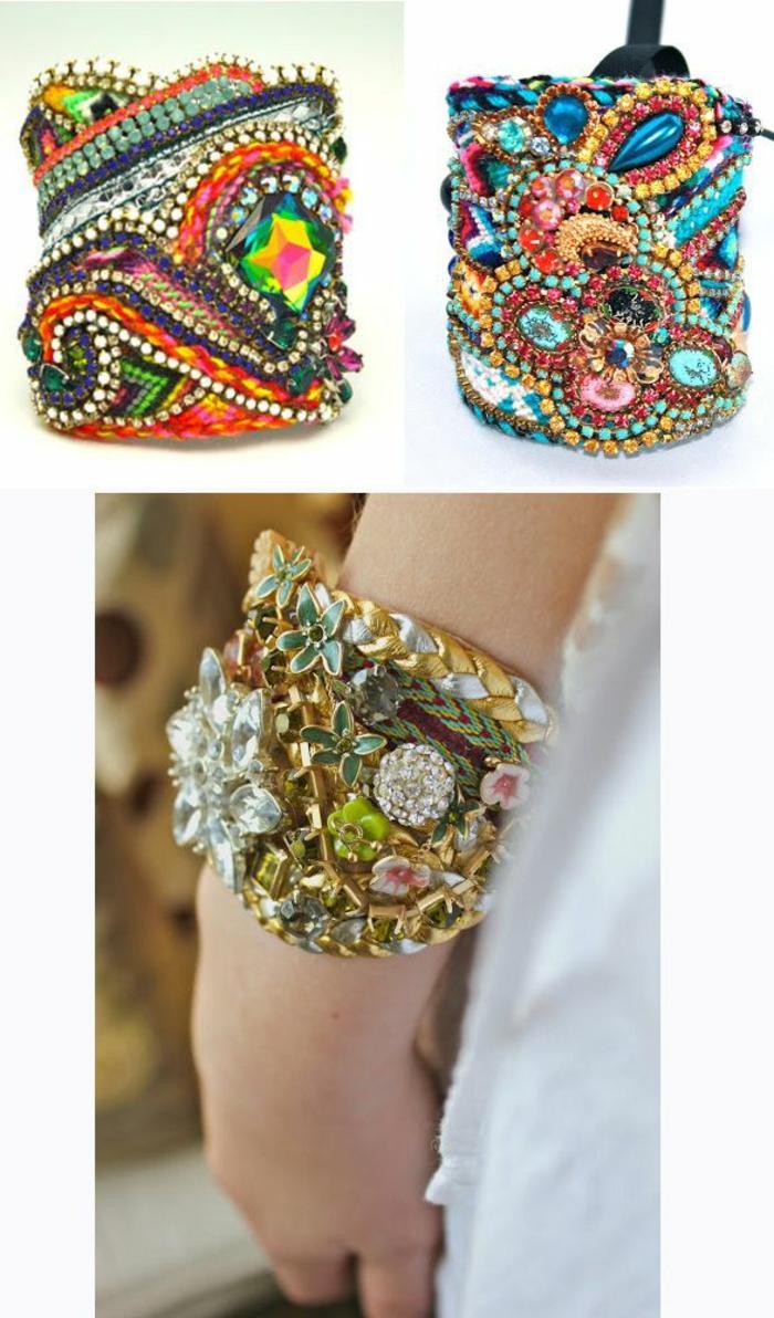 bracelet-manchette-coloré-et-ornementé