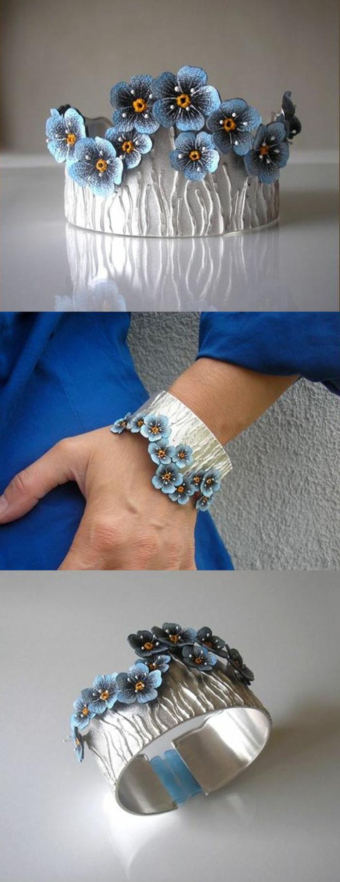 bracelet-manchette-fleurs-bleues