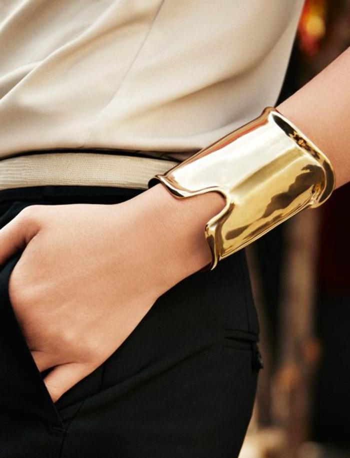 bracelet-manchette-métal-lisse