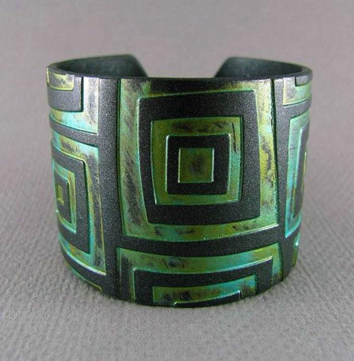 bracelet-manchette-motifs-géométriques
