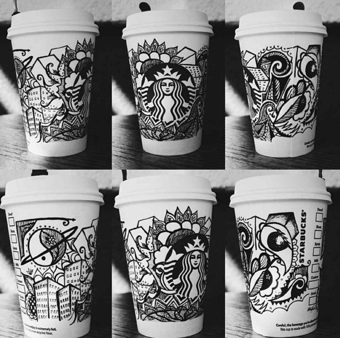 café-délicieux-boisson-chaude-gobelet-art-noir-et-blanc