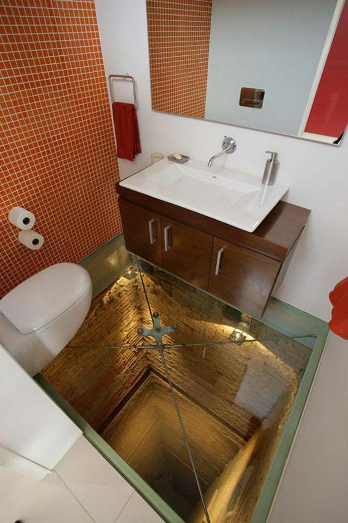 Transformez votre maison avec le plancher en verre for Mur en verre salle de bain