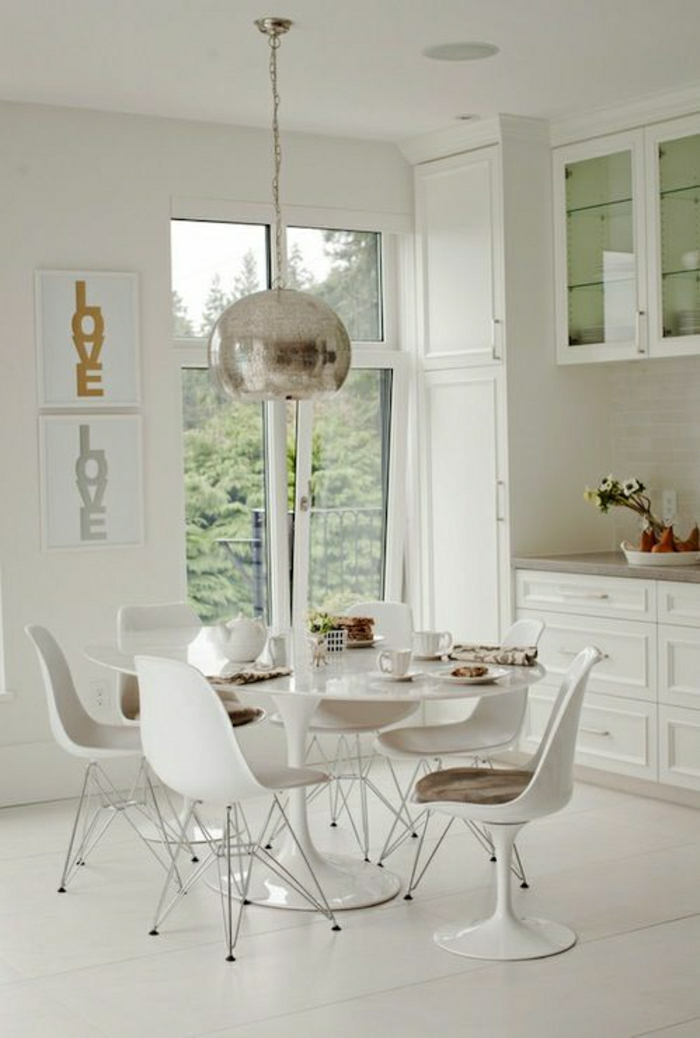 Ghost Acrylic Chairs And Glass Oblong Table
