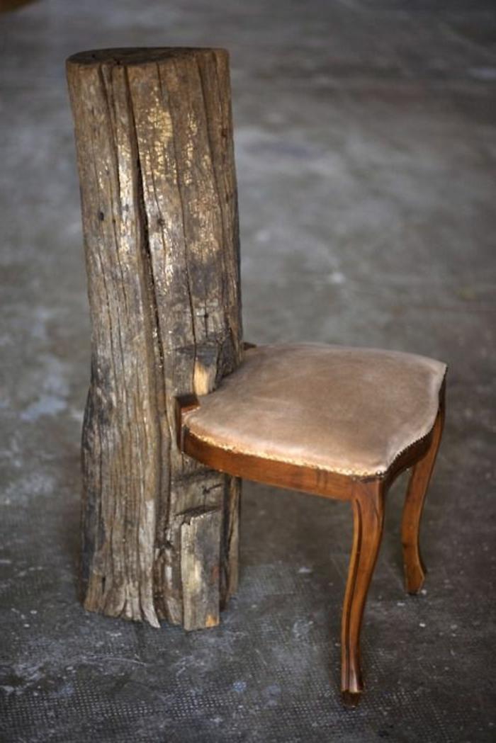 chaise en bois massif chaise bois massif tissu taupe. Black Bedroom Furniture Sets. Home Design Ideas