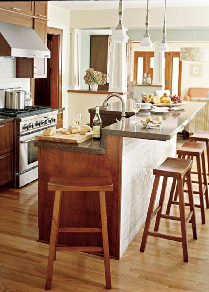 Comment adopter le tabouret de bar dans l 39 int rieur moderne - Bar de cuisine meuble ...