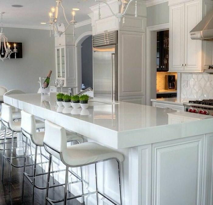 comment decorer une cuisine ouverte cuisine ouverte dcouvrez toutes nos inspirations elle. Black Bedroom Furniture Sets. Home Design Ideas
