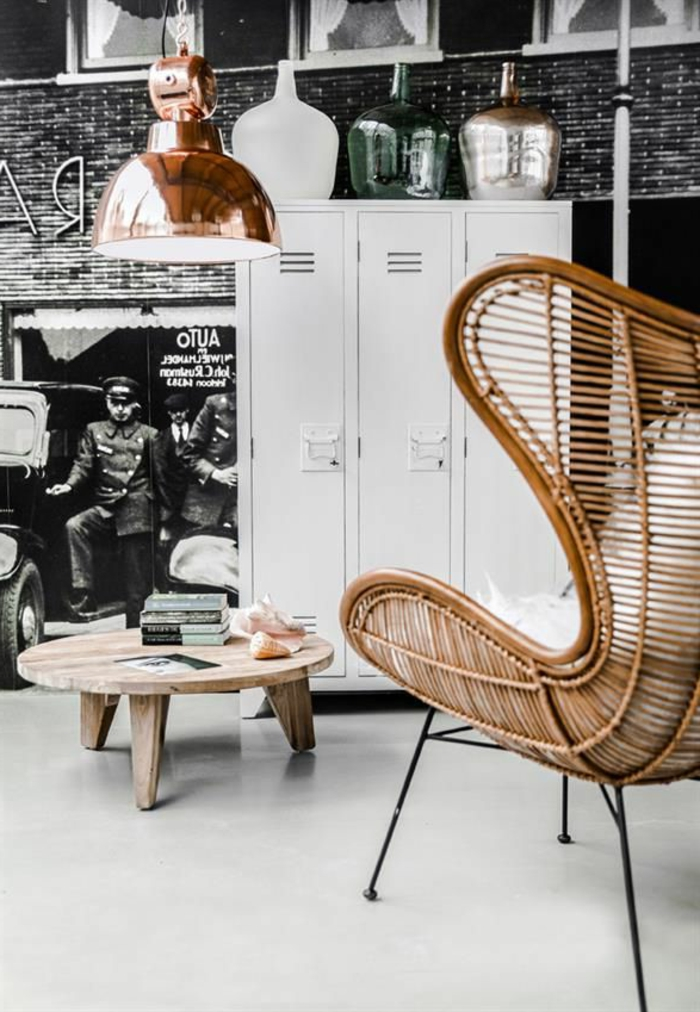 chaise-osier-meubles-en-rotin-intérieur-salon-moderne-table-basse-en-bois-