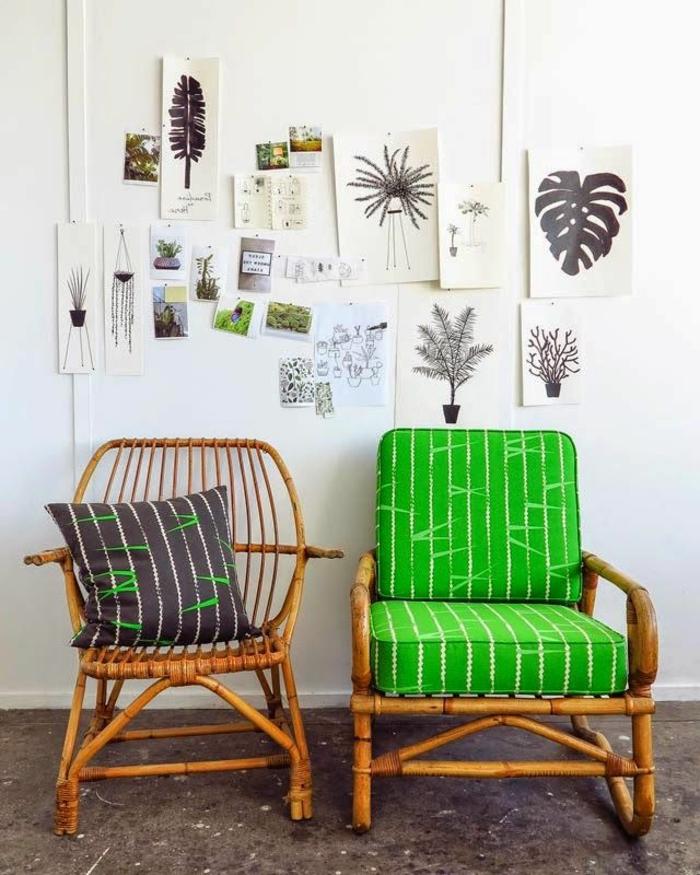 chaise-rotin-design-meubles-en-rotin-idée-aménagement-moderne