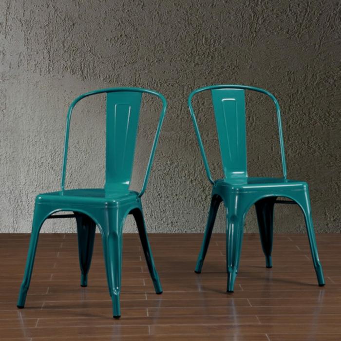 Les chaises bistrot une classique pour l 39 int rieur for Chaises colorees