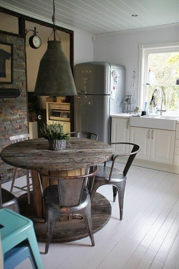 chaises-bistrot-cuisine-déco-industrielle