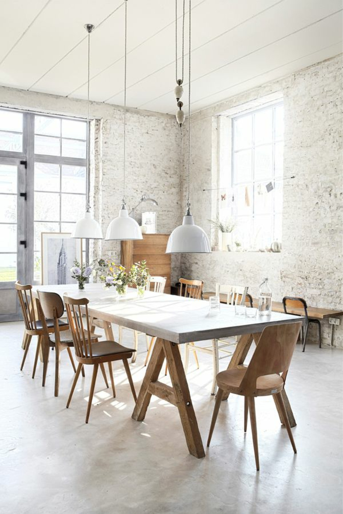 chaises-bistrot-décor-industriel-blanc