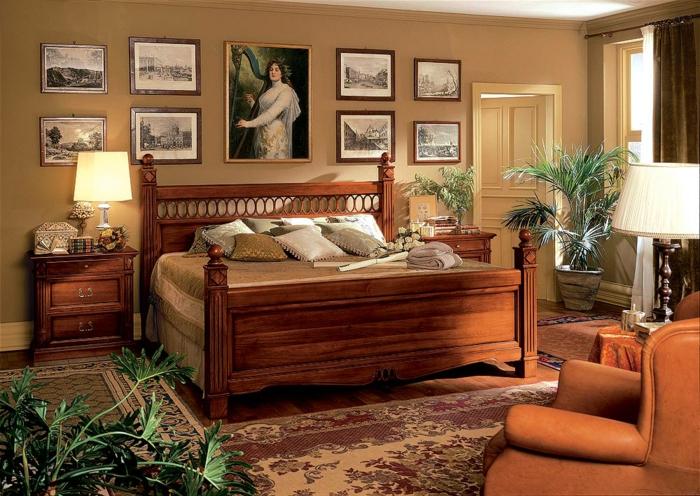 Chambre A Coucher En Bois Massif Moderne : chambre-a-cocuher-lit-en-bois-massif-commode-bois-massif-tapis-pour-la