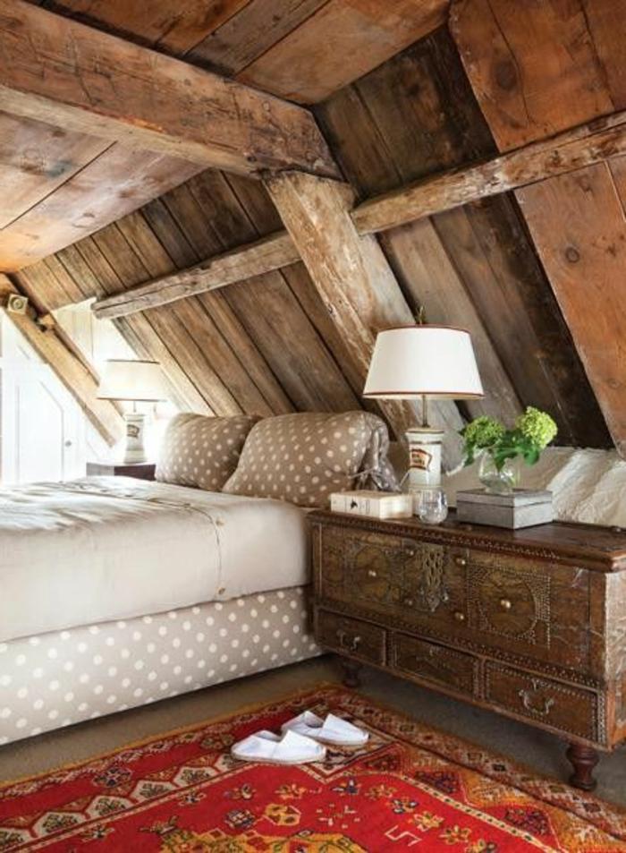 Chambre a coucher en bois massif moderne for Meuble chambre bois