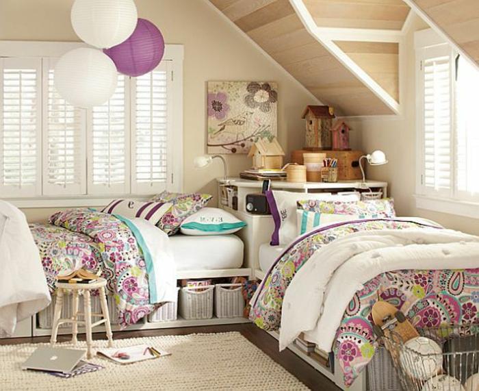 chambre-ado-fille-design-deux-filles-lits-mac-book