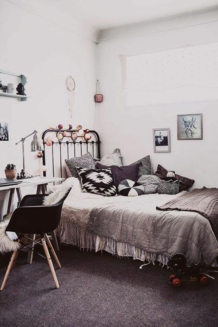 chambre-ado-fille-idée-créative-jolie-rétro-chaise-ikea