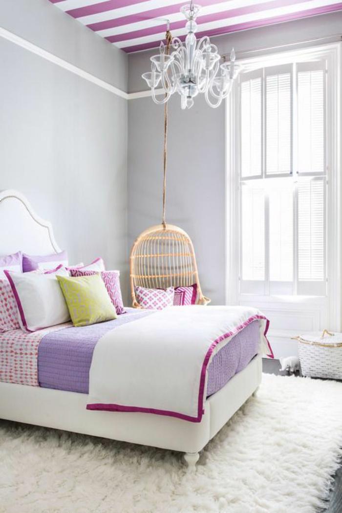 chambre ado fille moderne belle violet blanc lustre - Chambre Ado Fille Moderne Violet