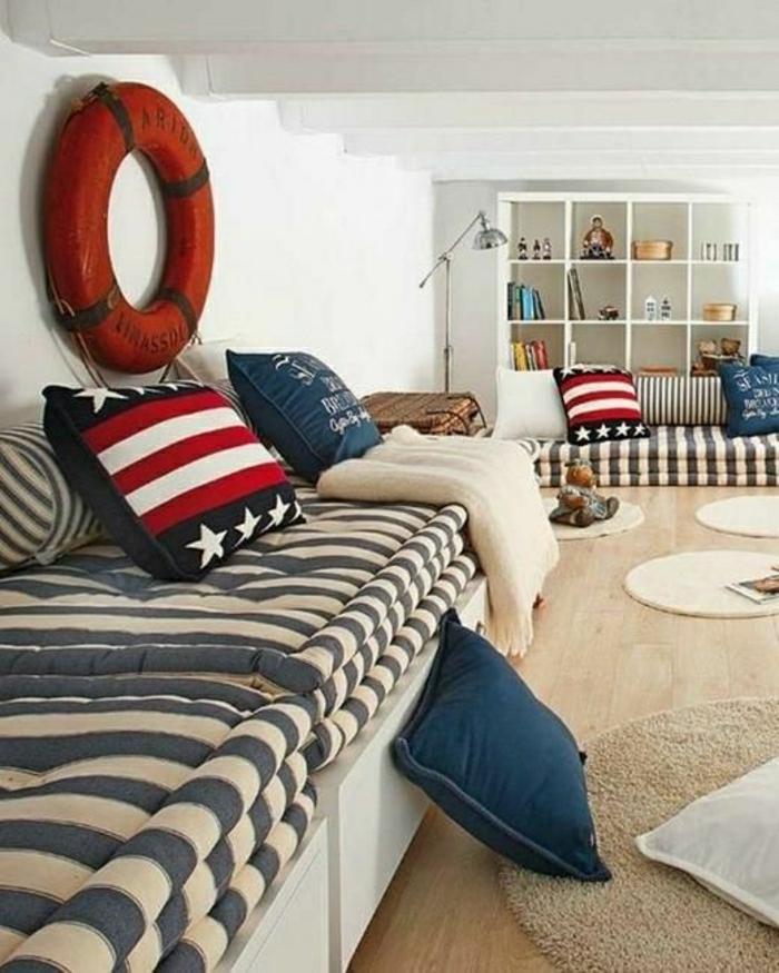 Gentil Chambre De Style Marine Idée Décoration Marine Decoration