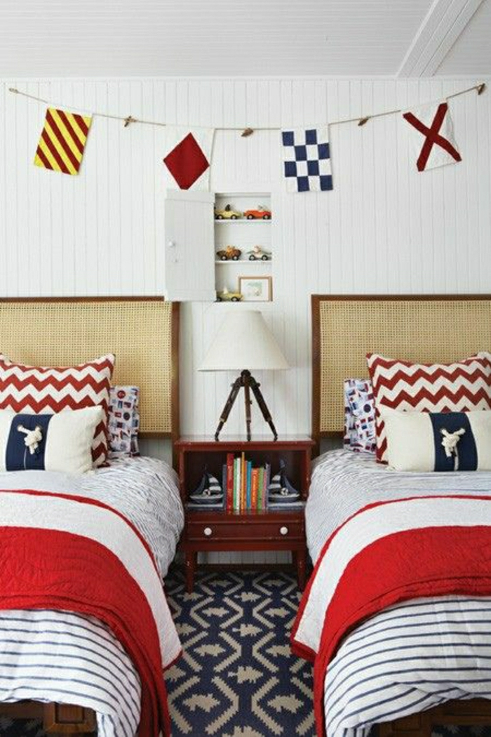 chambre-de-style-marine-idée-décoration-marine-decoration-mer