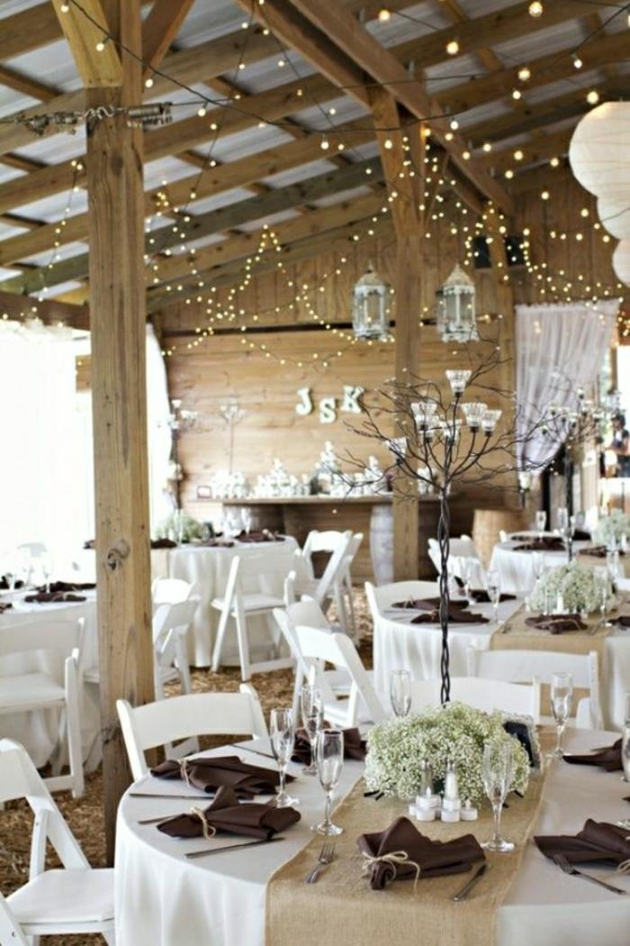 chemin-de-table-mariage-idée-nappe-de-mariage-blanche-décoration-table-beige