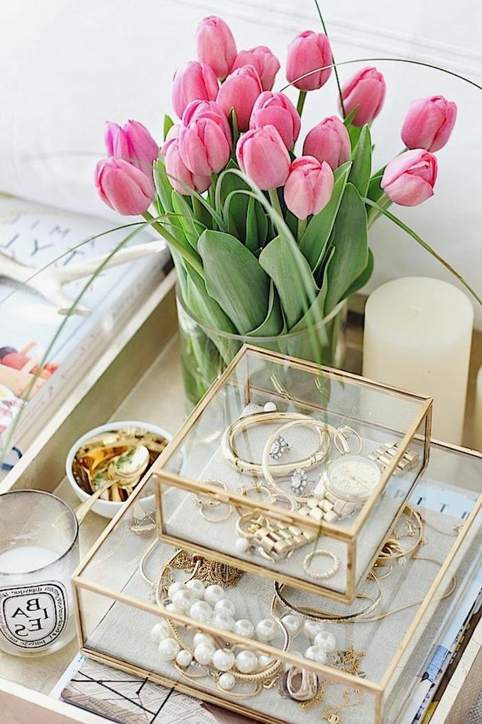 coffret-à-bijoux-boîtes-transparentes-de-différente-taille