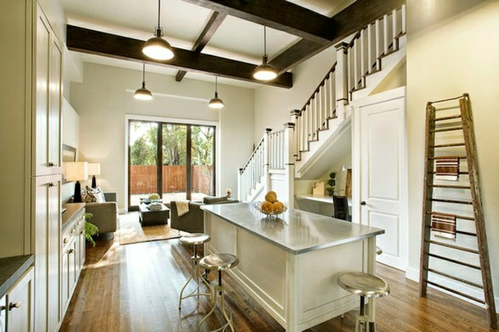 coin-de-travail-aménagement-sous-escalier-bureau-de-travail-coin-de-travail-etagere-sous-escalier