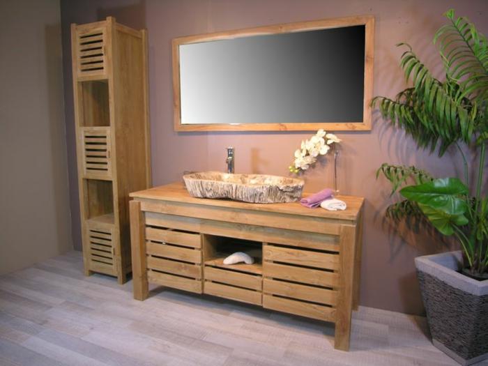 commode-bois-massif-meuble-teck-aménagement-couloir