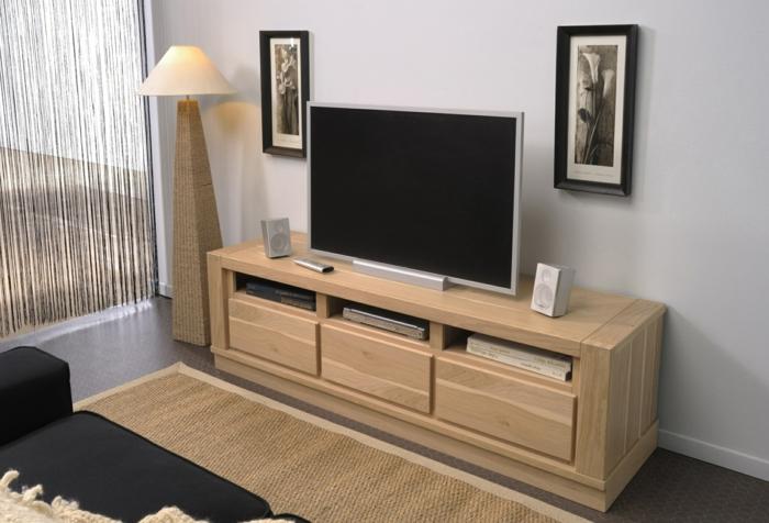 Le meuble massif est il convenable pour l 39 int rieur for Meuble bas salon bois