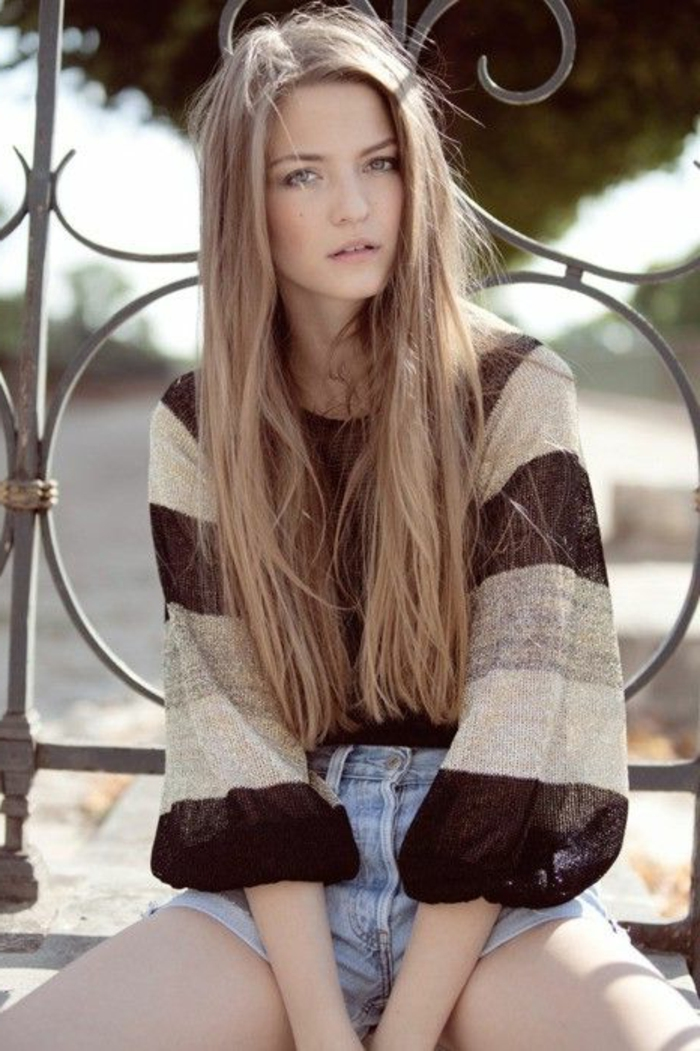 La couleur blond fonc parfait pour cette t et automne for Idee coupe couleur cheveux long