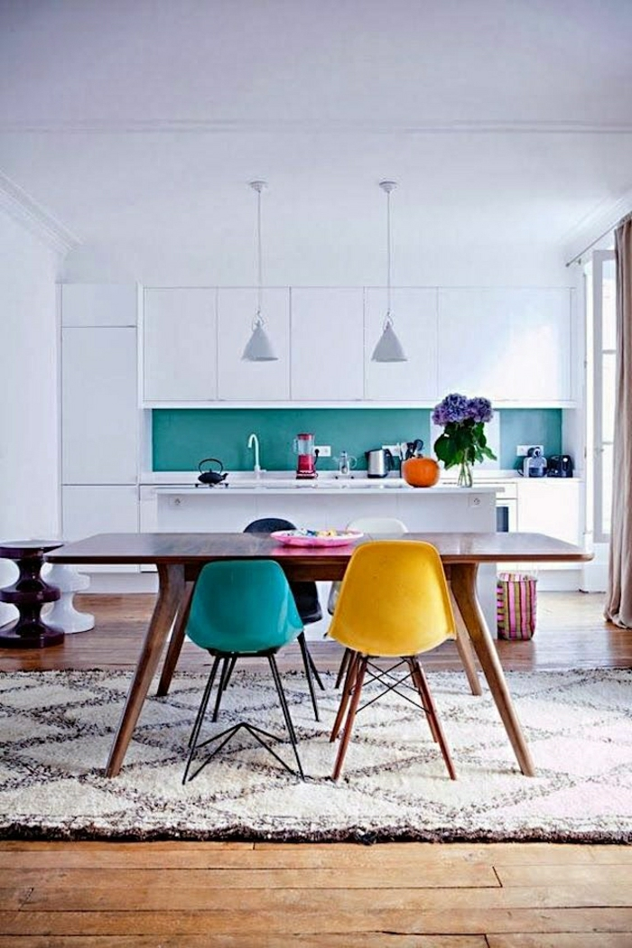 Plonger dans la couleur turquoise et colorer la maison for Tapis de cuisine turquoise