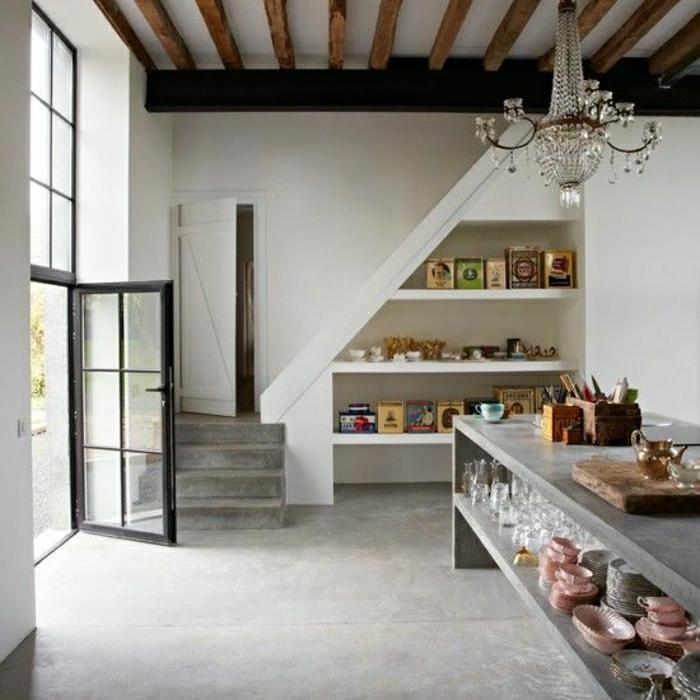 cuisine-aménagement-sous-escalier-petite-cuisine-meuble-sous-escalier-rangement-sous-escalier-moderne
