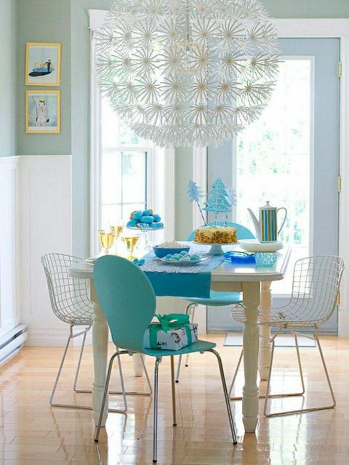 cuisine-bleu-cyon-deco-turqoise-couleur-turqoise-chaises-de-cuisine-modernes