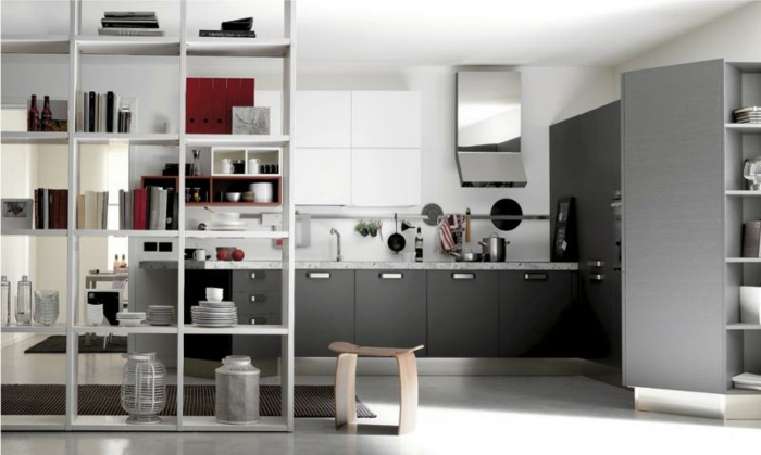 cuisine-de-couleur-gris-belle-modele-de-cuisine-meubles-de-cuisine-modern