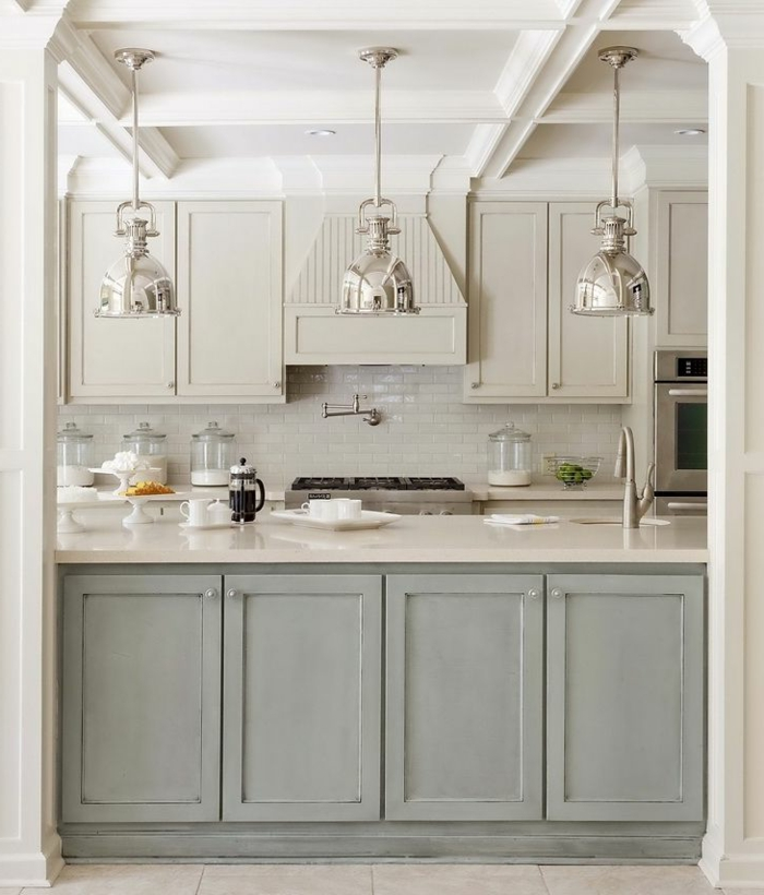 La cuisine grise plutot oui ou plutot non for Kitchen colors with white cabinets with papier carte grise
