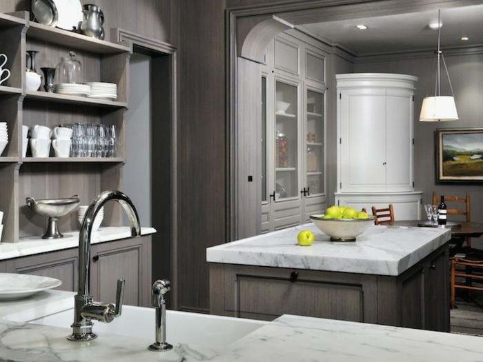 cuisine-gris-anthracite-meubles-gris-modele-de-cuisine-bar-en-marbre-blanc-bar-de-cuisine