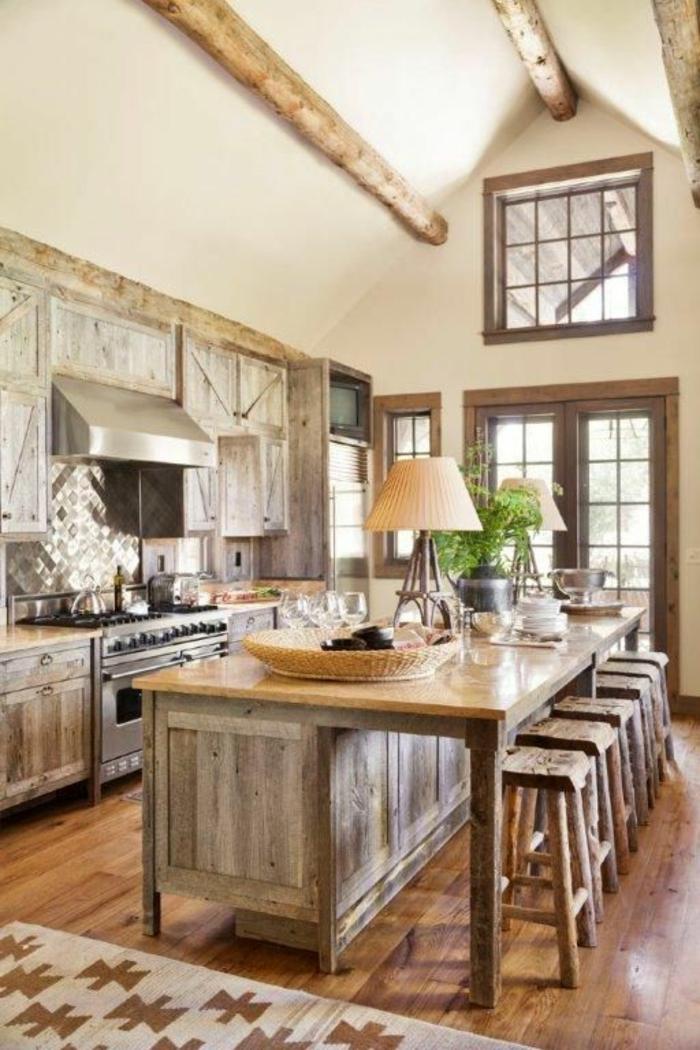 cuisine-meuble-en-chene-commode-bois-massif-parquet-clair-bois-clair-cuisine-avec-beaucoup-de-lumière