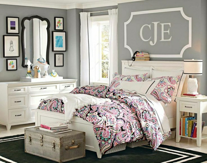 d coration chambre ado fille. Black Bedroom Furniture Sets. Home Design Ideas