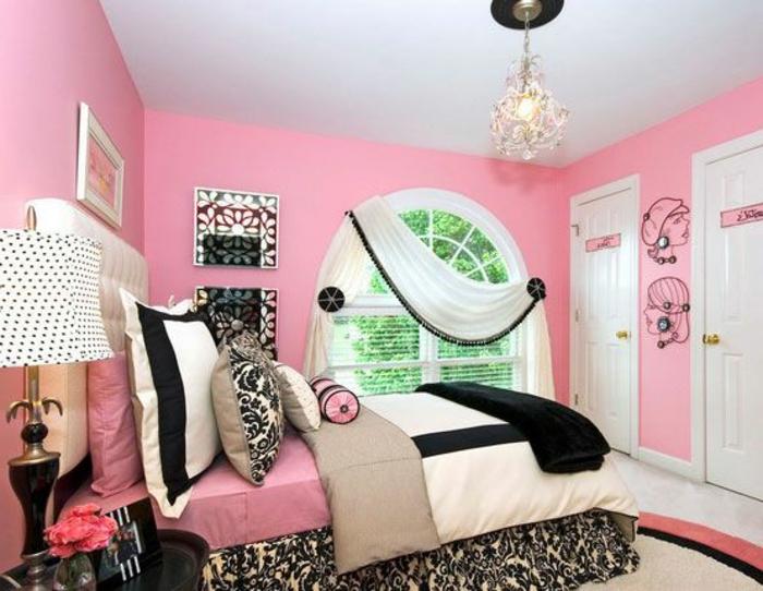 déco-chambre-ado-fille-pièce-rose-idee-decoration