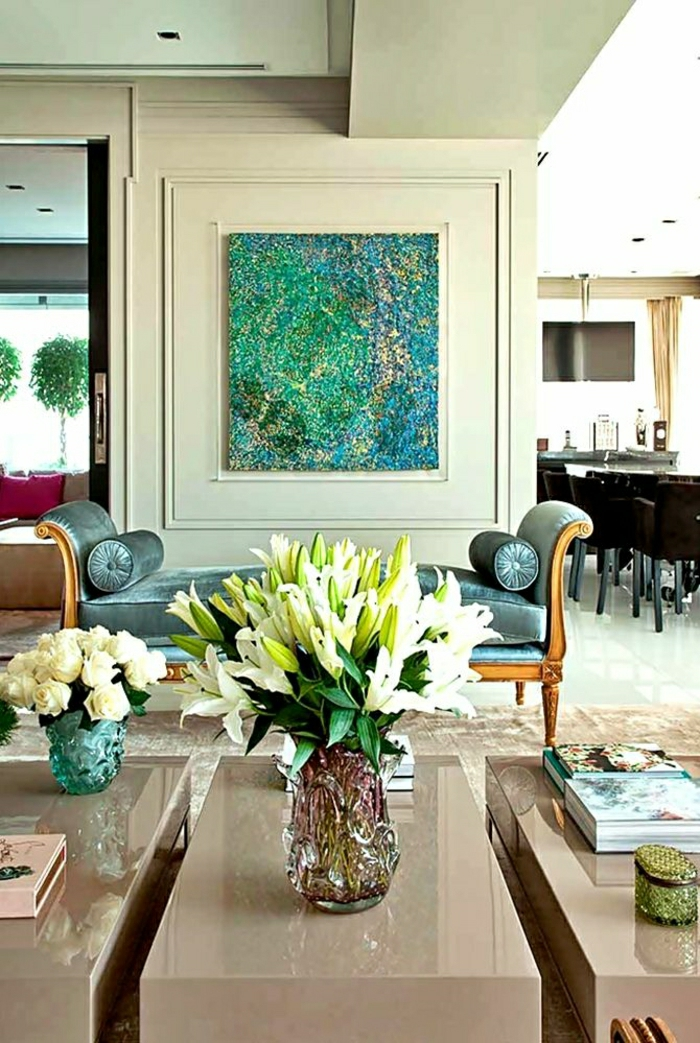Salle De Bain Jaune Moutarde : Salon Bleu Ciel Et Blanc: Salon jardin resine bois rotin metal. Les …